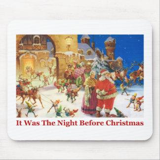 Sankt- u. Frau-Klaus Weihnachtsabend beim Nordpol Mousepad