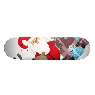 Sankt u. sein Ren mit Geschenken 21,6 Cm Skateboard Deck