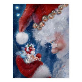 Sankt- und Feen-Feiertags-Postkarte