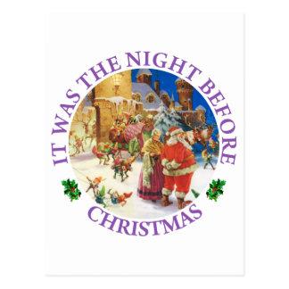 Sankt und Frau Klaus auf der Nacht vor Weihnachten Postkarte