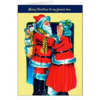 Sankt und Frau Klaus Card für Ihre spezielle Liebe Karte