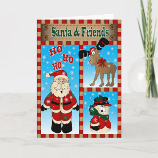 Santa and Friends, Wishing You a Merry Christmas