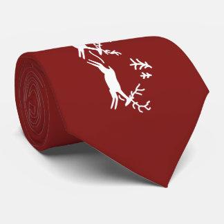 Sankt- und Ren-Weihnachten Bedruckte Krawatten
