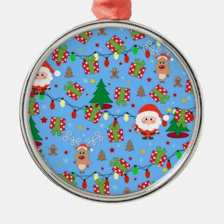 Sankt- und Rudolph-Muster Silbernes Ornament