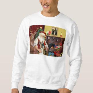Sankt und sein Boser (geerntete Ohren) Sweatshirt
