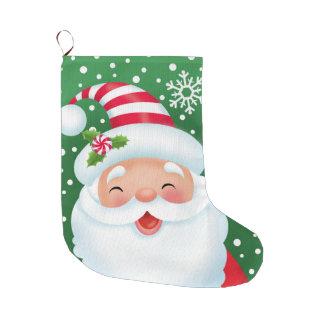 Sankt und sein Streifen-Hut-Strumpf Großer Weihnachtsstrumpf