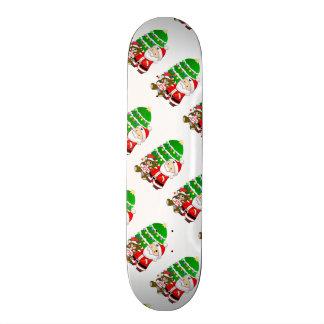 Sankt und Weihnachtsbär Skateboard Deck