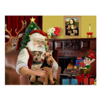 Sankt Waliser-Terrier (ZWEI) Postkarte