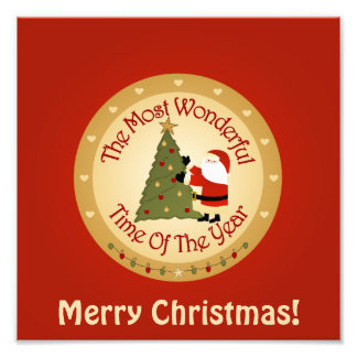 Sankt-Weihnachtsbaum Fotodruck