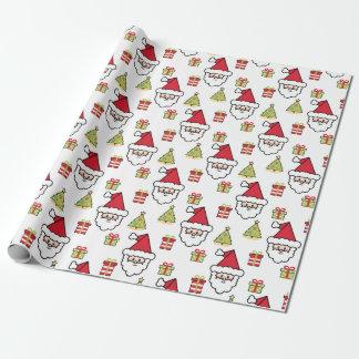 Sankt-Weihnachtsbaum-Geschenk Geschenkpapier