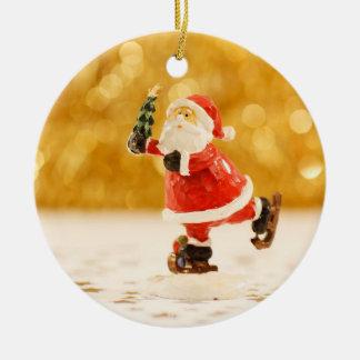 Sankt-Weihnachtsbaum-Verzierung Rundes Keramik Ornament