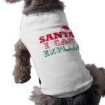 Sankt-Weihnachtshaustier-Kleidung Haustiershirts