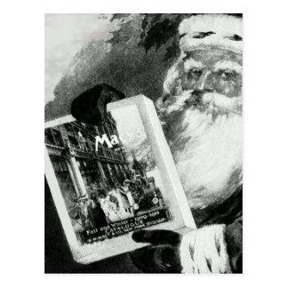 """""""SANKT WEIHNACHTSkatalog-ANZEIGE DER LIEBE-MACYS"""" Postkarte"""