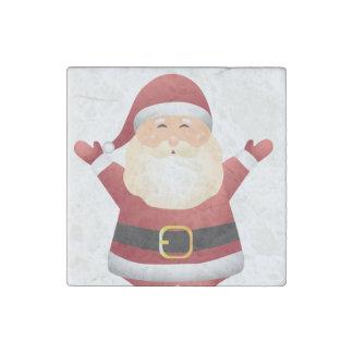 Sankt-Weihnachtsmagnet-Küchen-Dekoration oder Steinmagnet