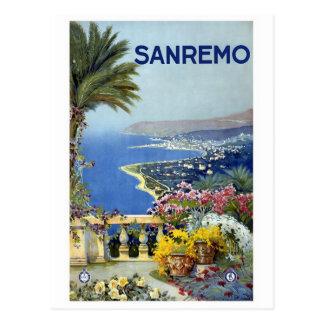 """Sanremo"" Vintages Reise-Plakat Postkarte"