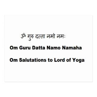 sanskrit Beschwörungsformel:  Sri Dattatreya Yoga Postkarte