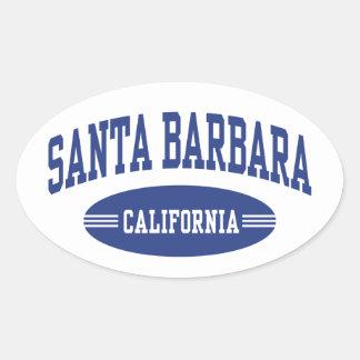 Santa Barbara Kalifornien Ovaler Aufkleber