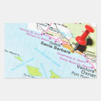 Santa Barbara, Kalifornien Rechteckiger Aufkleber