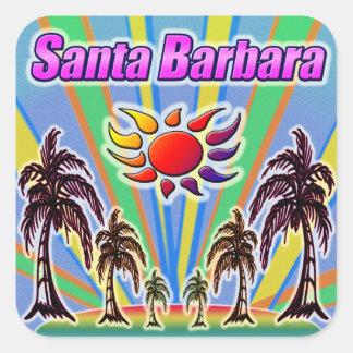 Santa- Barbarasommer-Liebe-Aufkleber Quadratischer Aufkleber
