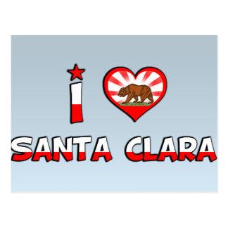 Santa Clara, CA Postkarte