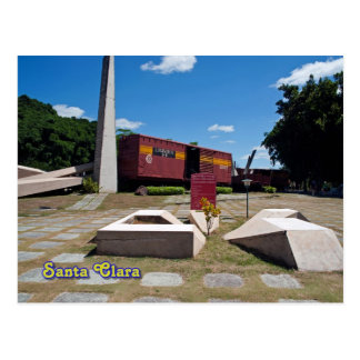 Santa Clara, Kuba. Der entgleiste Zug 3 Postkarte