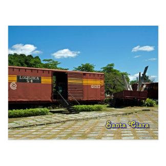 Santa Clara, Kuba - entgleister Zug 4 Postkarte