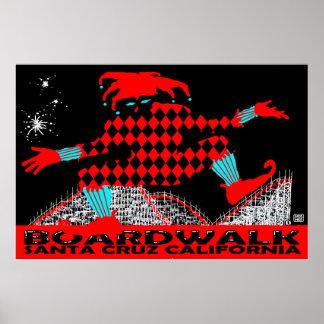 Santa- Cruzpromenaden-Spaßvogel Stephen-Hosmers Poster
