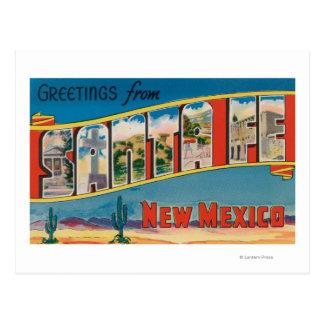 Santa Fe, New Mexiko - große Buchstabe-Szenen 2 Postkarte