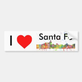 SANTA FE, NEW MEXIKO-SKYLINE AUTOAUFKLEBER