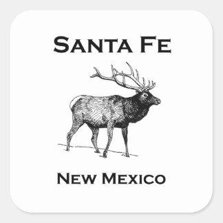 Santa- FeNew Mexiko-Elche Quadratischer Aufkleber