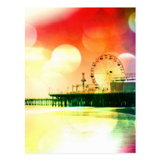 Santa Monica Pier - FarbFoto sprengend, redigieren Postkarte