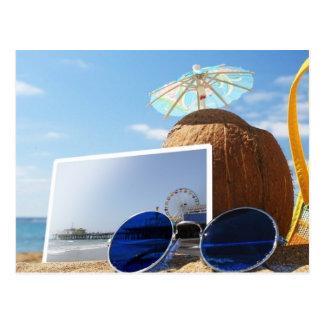 Santa Monica Pier-Sommer-Strand-Party Postkarte