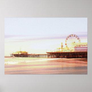 Santa Monica Pier-Sonnenaufgang Poster