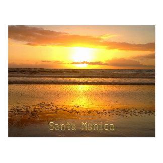 Santa Monica Reise-Strand-Blasen Postkarte