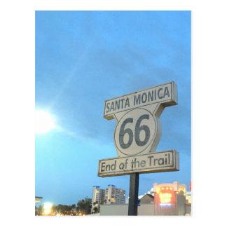Santa Monica Weg 66 Postkarte