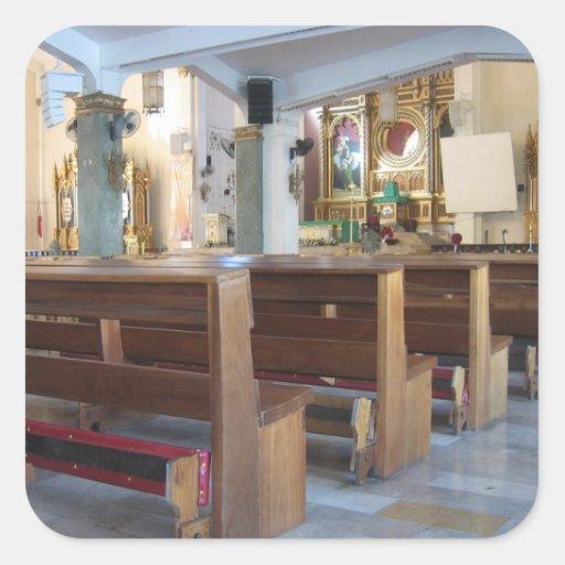 Santo Niño Kirche Quadratsticker