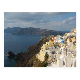 Santorini am Nachmittag Sun Postkarte