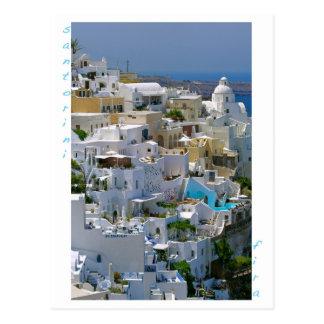 Santorini Fira Postkarte