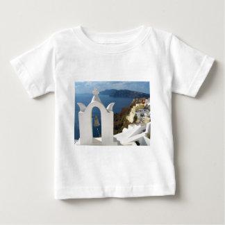 Santorini Glockenturm am Nachmittag Sun Baby T-shirt