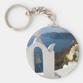 Santorini Glockenturm am Nachmittag Sun Schlüsselanhänger