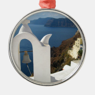 Santorini Glockenturm am Nachmittag Sun Silbernes Ornament