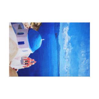 Santorini, Griechenland - Ansicht von Oia Leinwanddruck