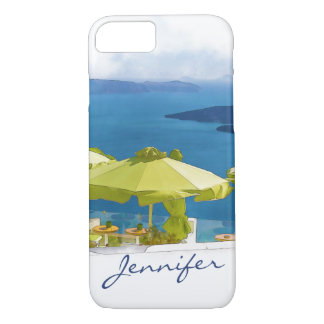 Santorini Griechenland Malerei iPhone 8/7 Hülle