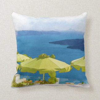 Santorini Griechenland Malerei Kissen