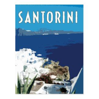 Santorini Griechenland Vintage Reiseart Postkarte