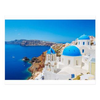 Santorini Insel - Kessel, Griechenland Postkarte
