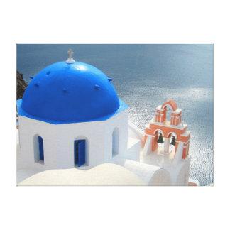 Santorini Kirche am Nachmittag Sun Leinwanddruck