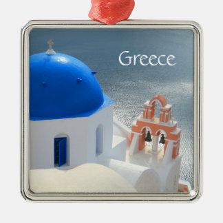 Santorini Kirche am Nachmittag Sun Silbernes Ornament