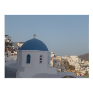 Santorini Kirche II Postkarte