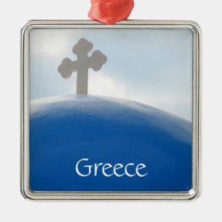 Santorini Kreuz am Nachmittag Sun Silbernes Ornament